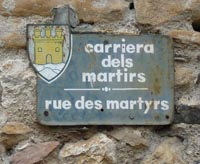 road sign in Minerve